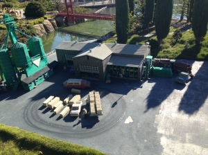 I'm loving this lego model of a timber mill near Ferndale, California. It's complete with roving logging truck!