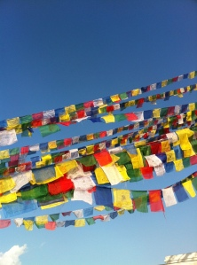 Prayer flags to honor those we've lost.