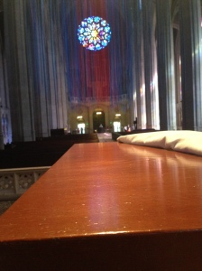 The redwood alter at Grace Cathedral.