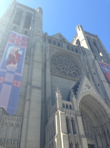 Iconic Grace Cathedral atop San Francisco's Nob Hill.